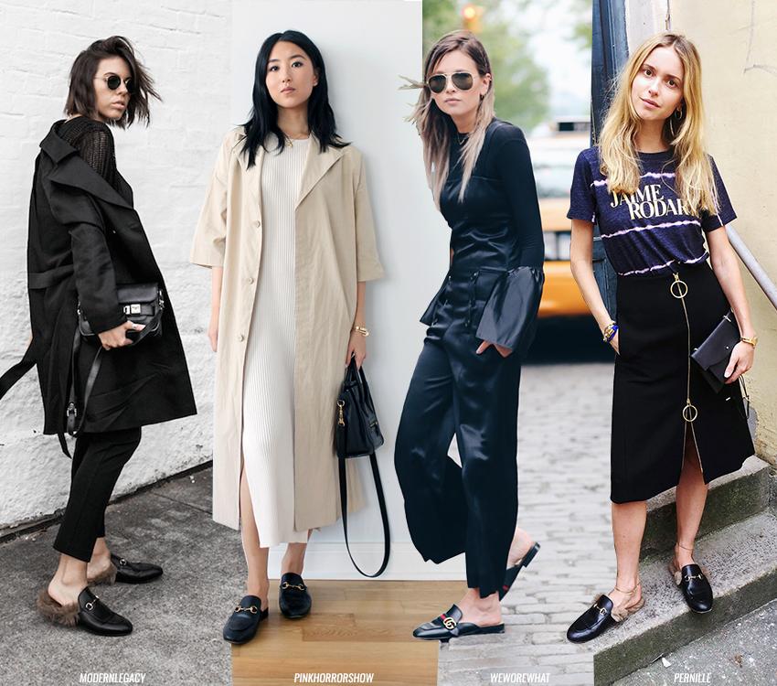 Laatste mode trend zijn slippers op deze foto ziet je vier meiden met hippe exemplaren